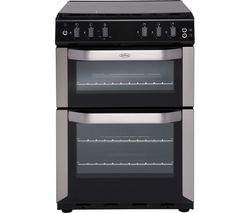 BELLING FSG55 TCF 55 cm Gas Cooker - Stainless Steel & Black