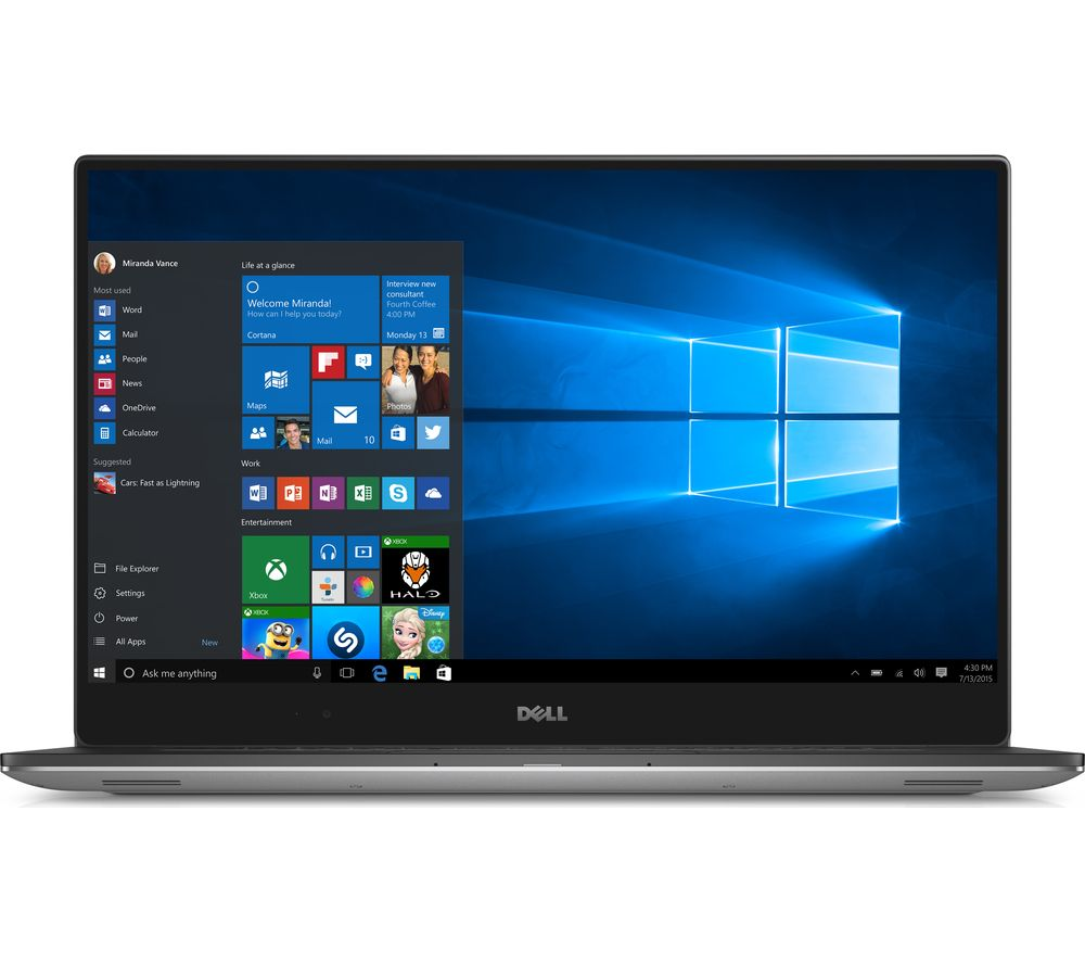 "DELL XPS 15 15.6"" Laptop - Silver + Office 365 Home - 1 year for 5 users + LiveSafe Premium - 1 user / unlimited devices for 1 year"