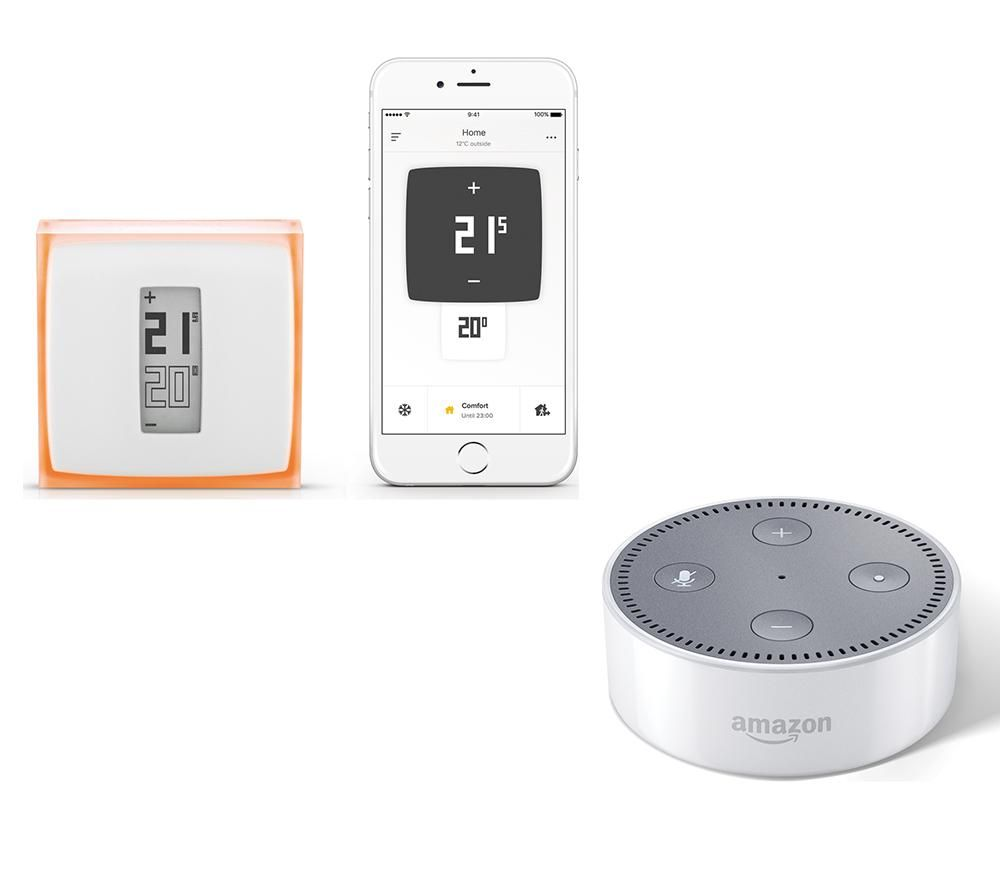 Image of AMAZON AMAZON Echo with Netatmo Thermostat Bundle