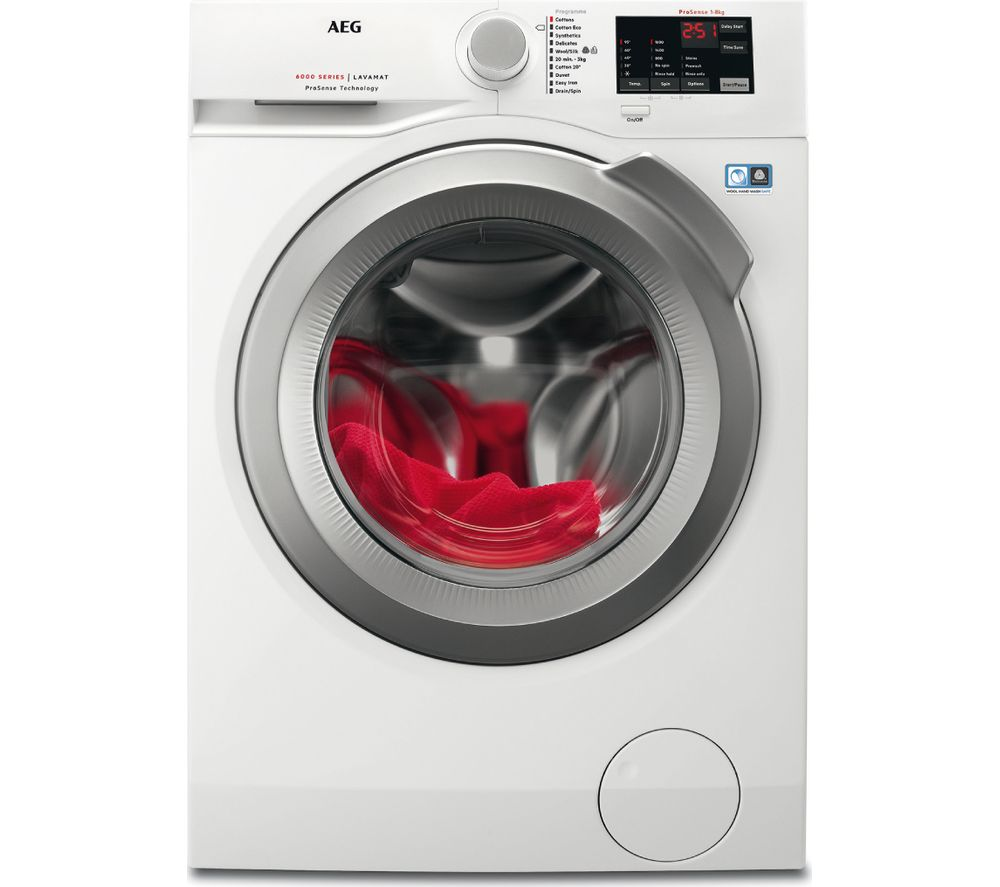 AEG ProSense 6000 L6FBI862N 8 kg 1600 Spin Washing Machine - White
