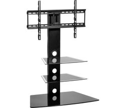 MMT Rio CB55 TV Stand with Bracket - Black Glass