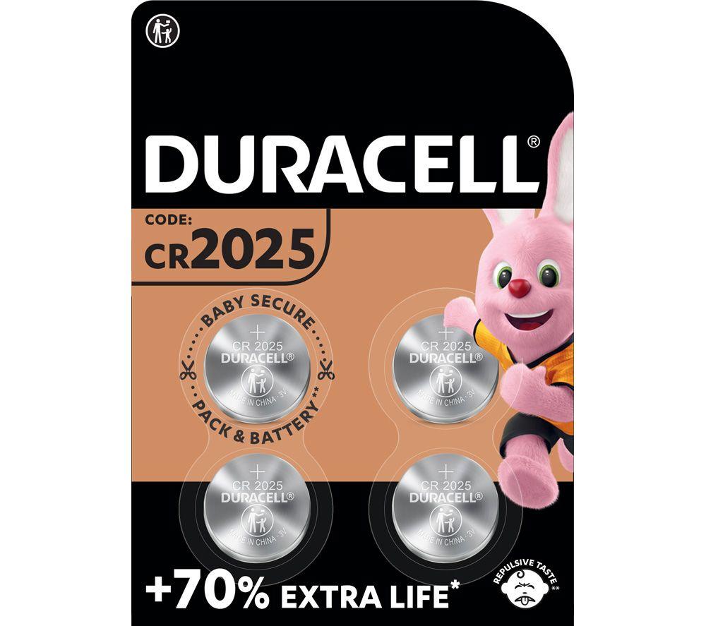 DURACELL DL2025/CR2025/ECR2025 Batteries - Pack of 4