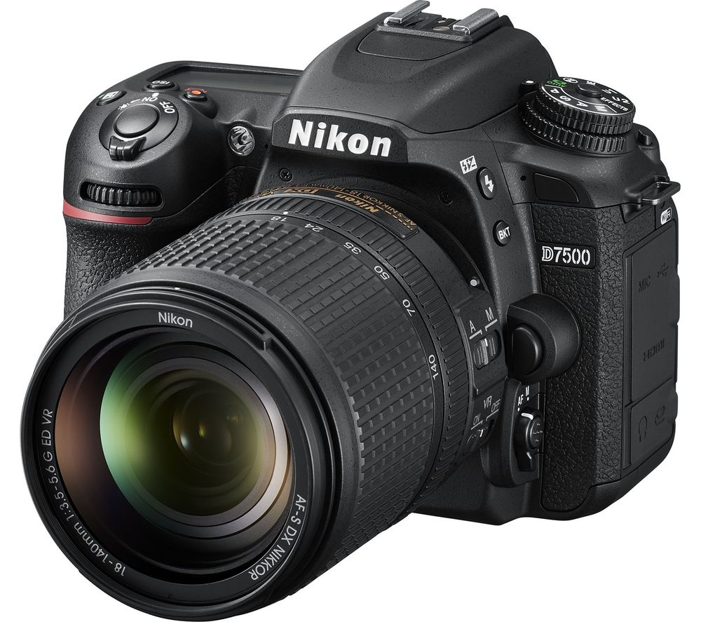 NIKON D7500 DSLR Camera with DX 18-140 mm f/3.5-5.6G ED VR Lens