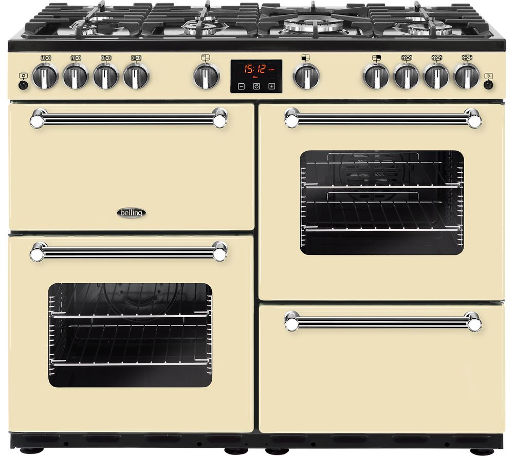 BELLING Kensington 100G 100 cm Gas Range Cooker - Cream & Chrome