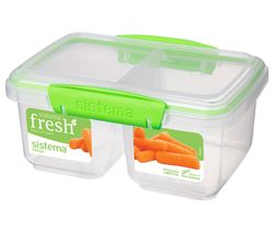 SISTEMA Split Rectangular 1 litre Container - Green