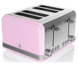 SWAN Retro ST19020PN 4-Slice Toaster - Pink