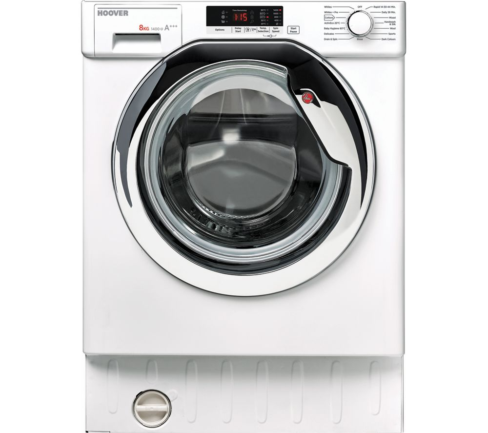 Compare retail prices of Hoover HBWM814SAC-80 Integrated 8 kg 1400 Spin Washing Machine to get the best deal online