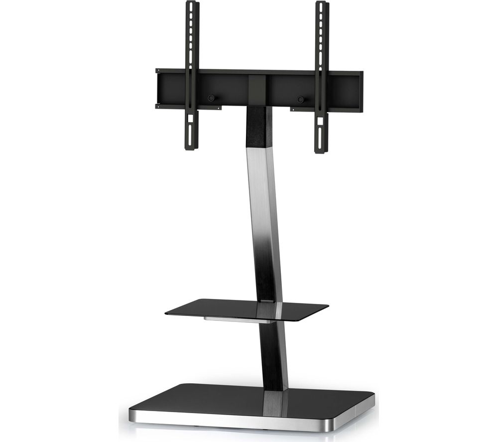 SONOROUS PL2710-BLK-SLV 600 mm TV Stand with Bracket - Black & Silver