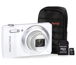PRAKTICA Luxmedia Z212-W Compact Camera & Accessories Bundle - White