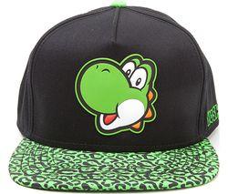 NINTENDO Yoshi Rubber Patch Snapback Cap - Black & Green