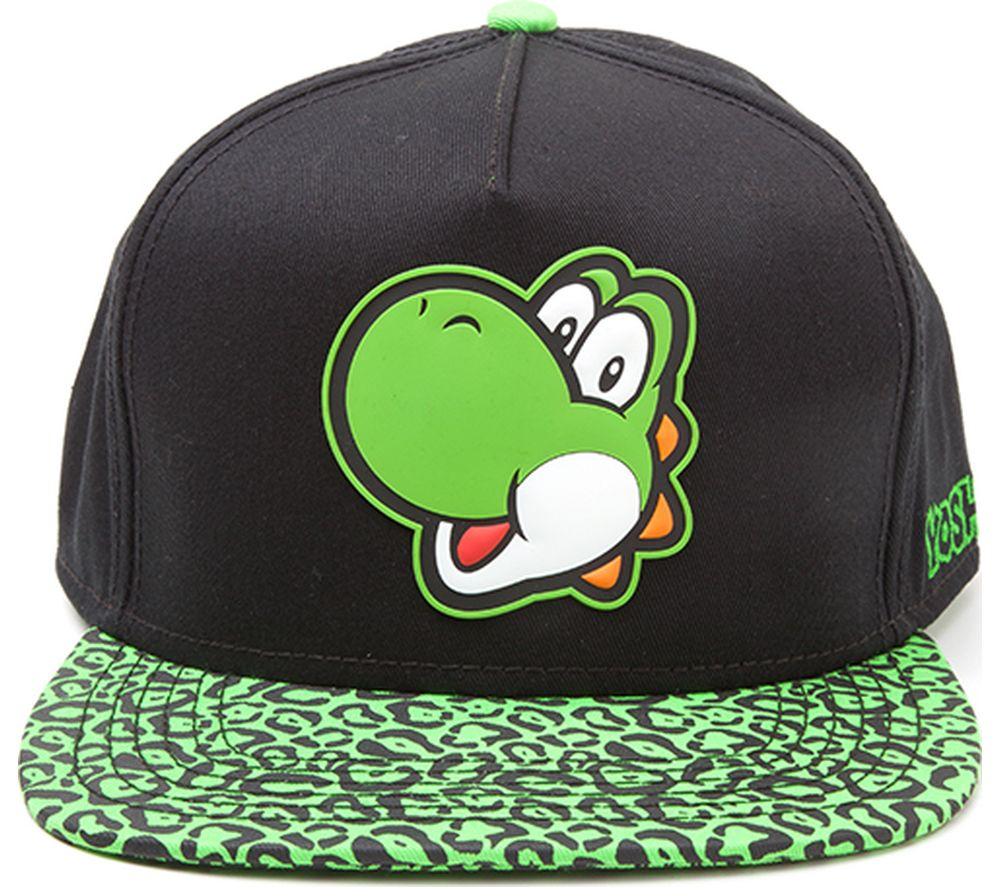Compare prices for Mario Yoshi Rubber Patch Snapback Cap