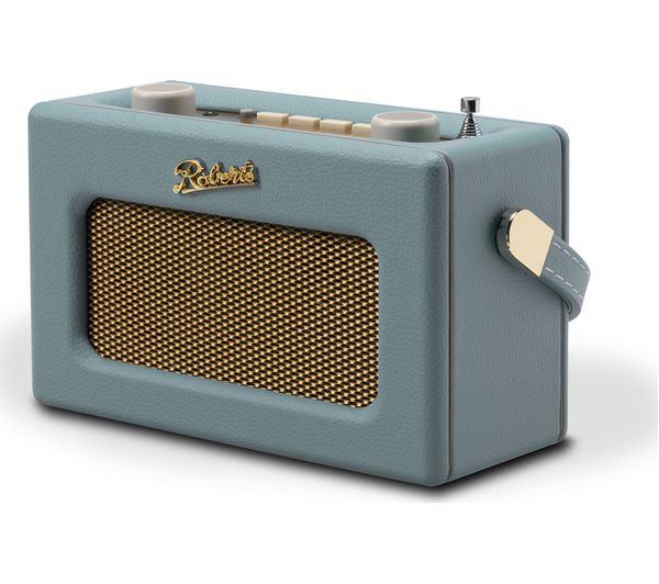 Image of ROBERTS Revival Uno Retro Portable Clock Radio - Duck Egg