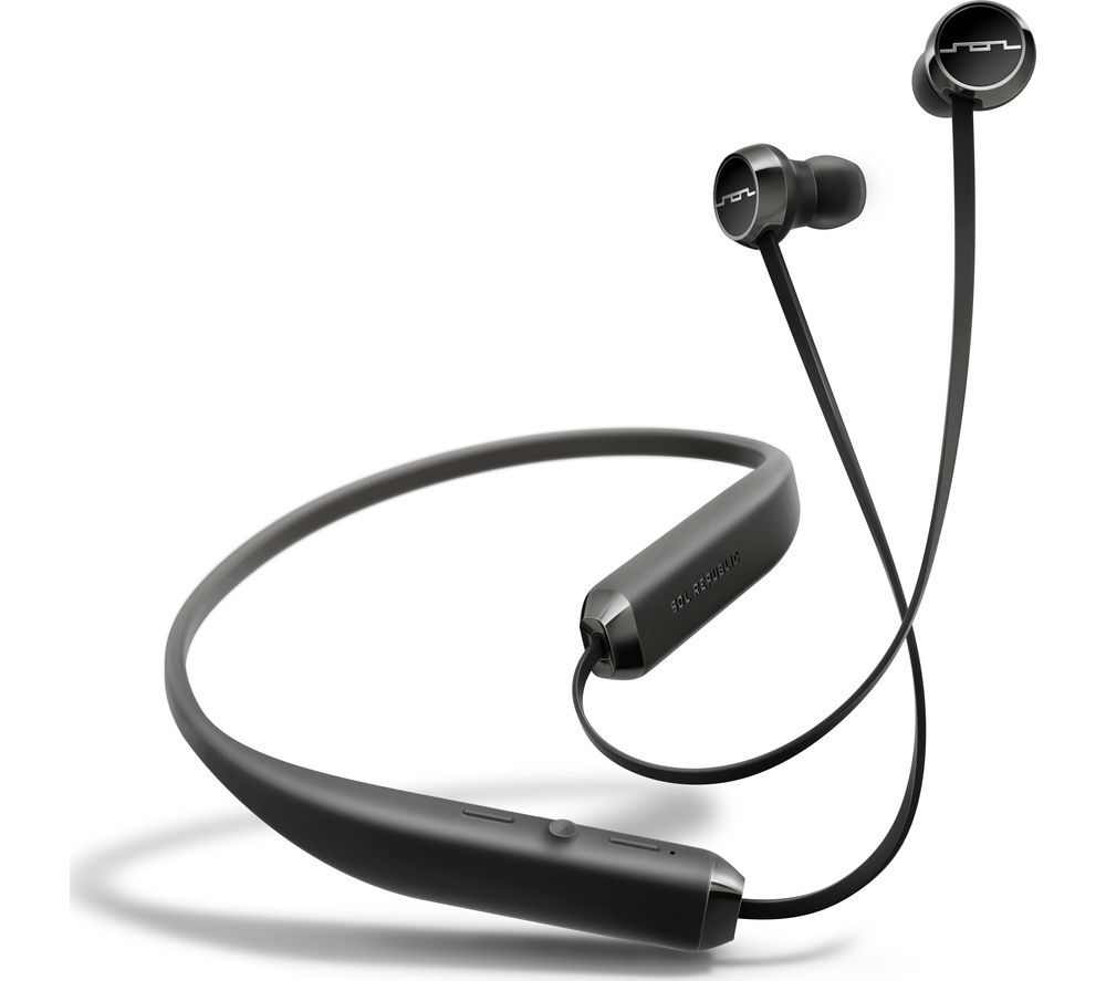 Image of SOL REPUBLIC Shadow Wireless Bluetooth Headphones - Black, Black