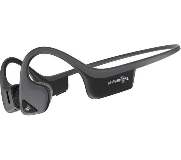 Image of AFTERSHOKZ Trekz Air Wireless Bluetooth Sports Headphones - Slate Grey