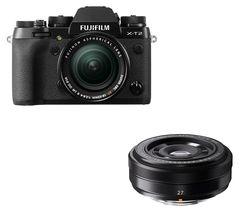 FUJIFILM X-T2 Mirrorless Camera with XF 18-55 mm f/2.8-4 R LM OIS Lens