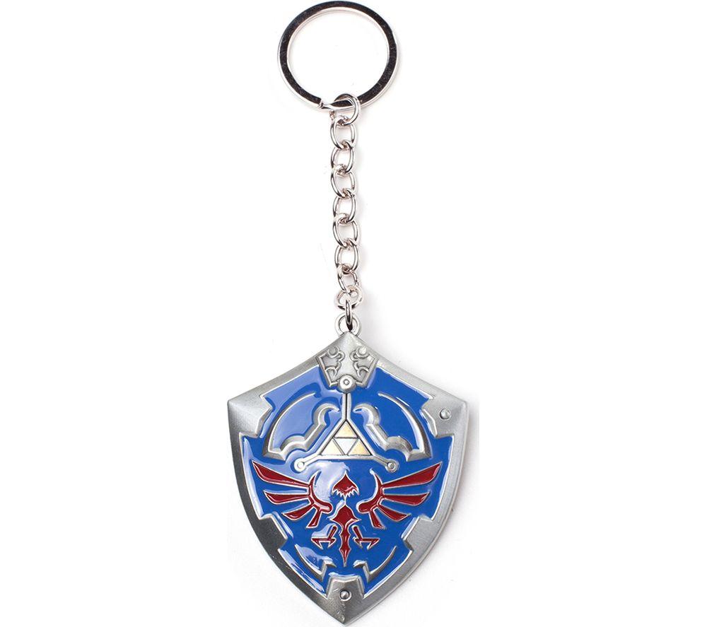 NINTENDO Zelda Hylian Shield 3D Metal Keychain - Blue