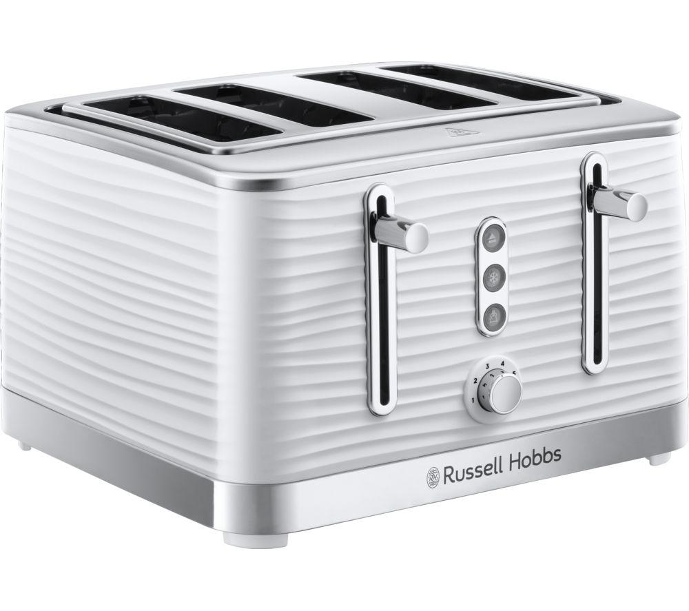 RUSSELL HOBBS Inspire 24380 4-Slice Toaster - White
