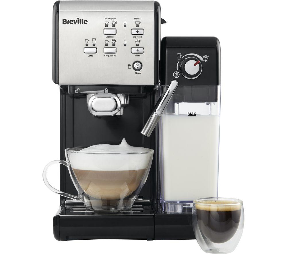 BREVILLE One-Touch VCF107 Coffee Machine - Black & Chrome, Black