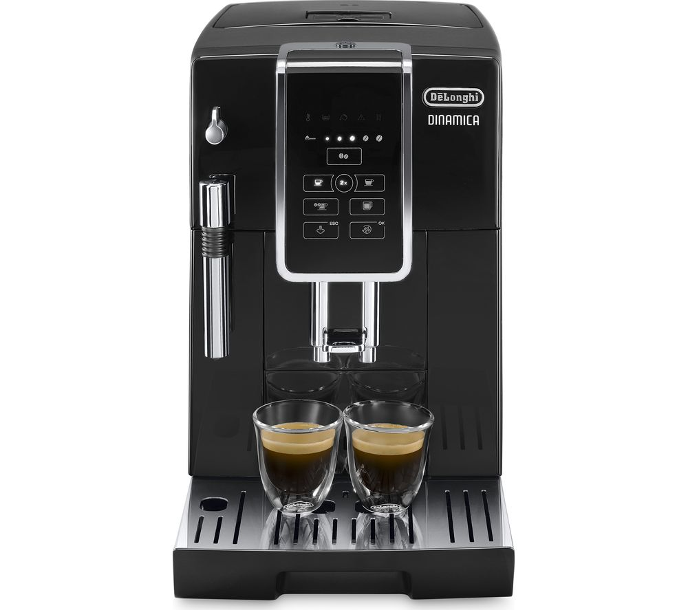 Image of DELONGHI Dinamica ECAM 350.15B Bean to Cup Coffee Machine - Black, Black