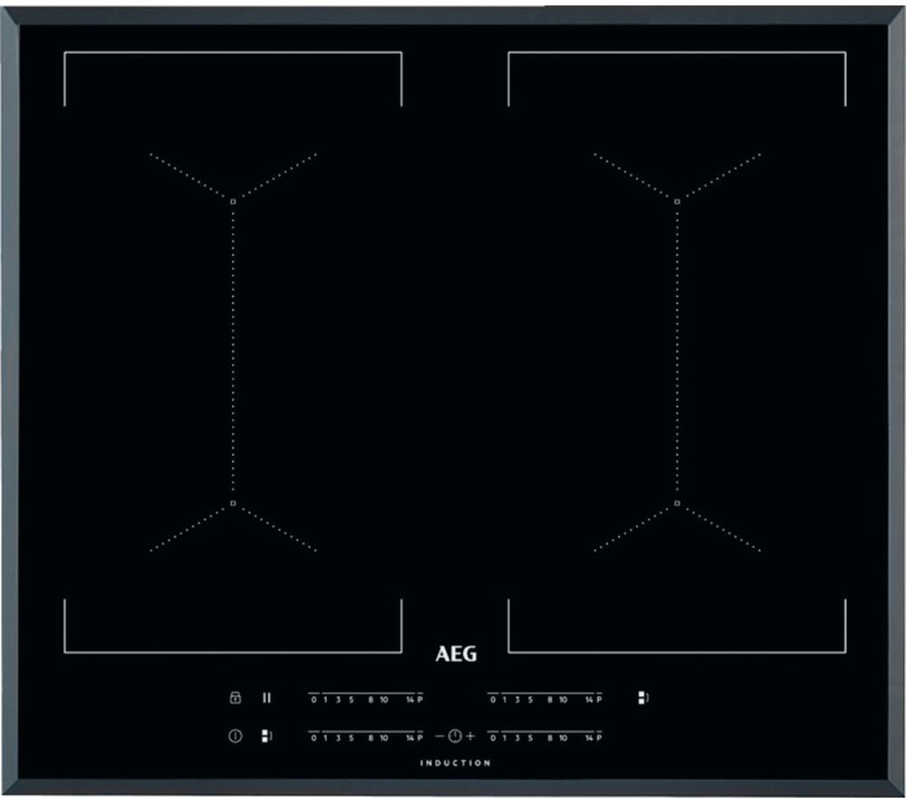 Image of AEG IKE64450FB Electric Induction Hob - Black, Black