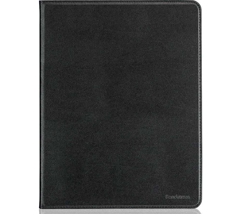 "Image of SANDSTROM 12.9"" iPad Pro Leather Folio Case - Black, Black"