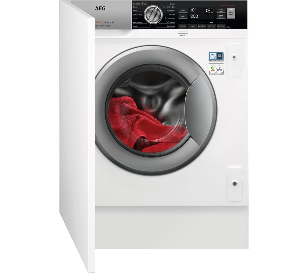 AEG 7000 Series L7FC8432BI Integrated 8 kg 1400 Spin Washing Machine