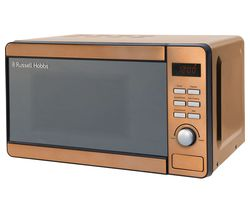RUSSELL HOBBS RHMD804CP Compact Solo Microwave - Copper Best Price, Cheapest Prices