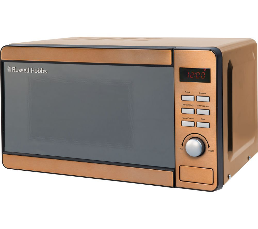 RUSSELL HOBBS RHMD804CP Compact Solo Microwave - Copper