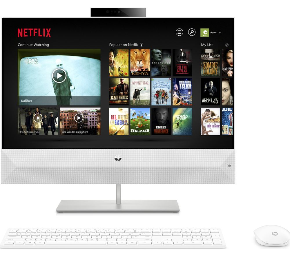 "HP Pavilion 24-xa0181na 23.8"" AMD Ryzen 5 All-in-One PC - 1 TB HDD, White"