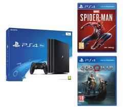 SONY PlayStation 4 Pro, Marvel's Spider-Man & God Of War Bundle