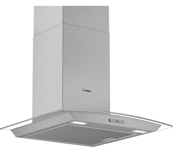 Image of BOSCH Serie 2 DWA64BC50B Chimney Cooker Hood - Stainless Steel