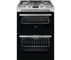 ZCK66350XA 60 cm Dual Fuel Cooker - Stainless Steel