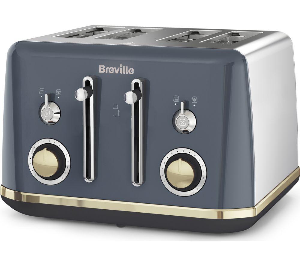 BREVILLE Mostra VTT931 4-Slice Toaster - Grey, Grey