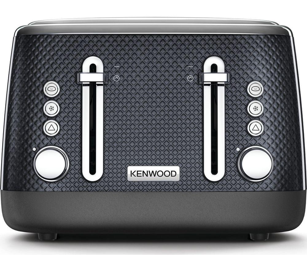 KENWOOD Mesmerine TFM810BK 4-Slice Toaster - Black, Black