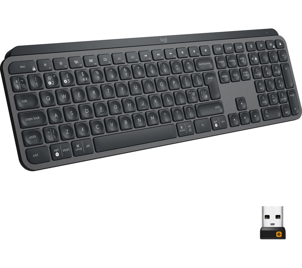 Image of Logitech MX Keys Advanced Wireless Illuminated Keyboard - keyboard - QWERTY - UK