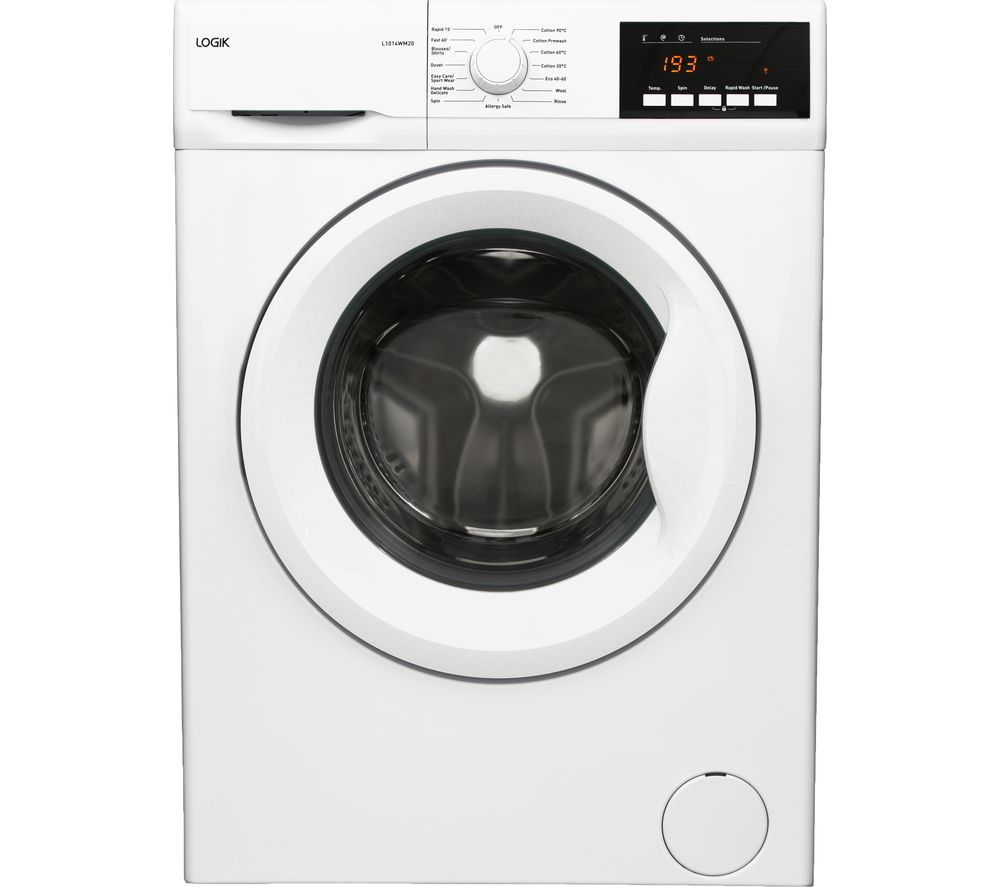 LOGIK L1014WM20 10 kg 1400 Spin Washing Machine - White
