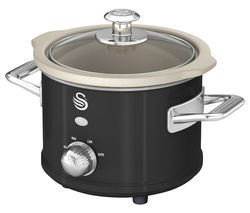SWAN Retro SF17011 Slow Cooker - Black Best Price, Cheapest Prices