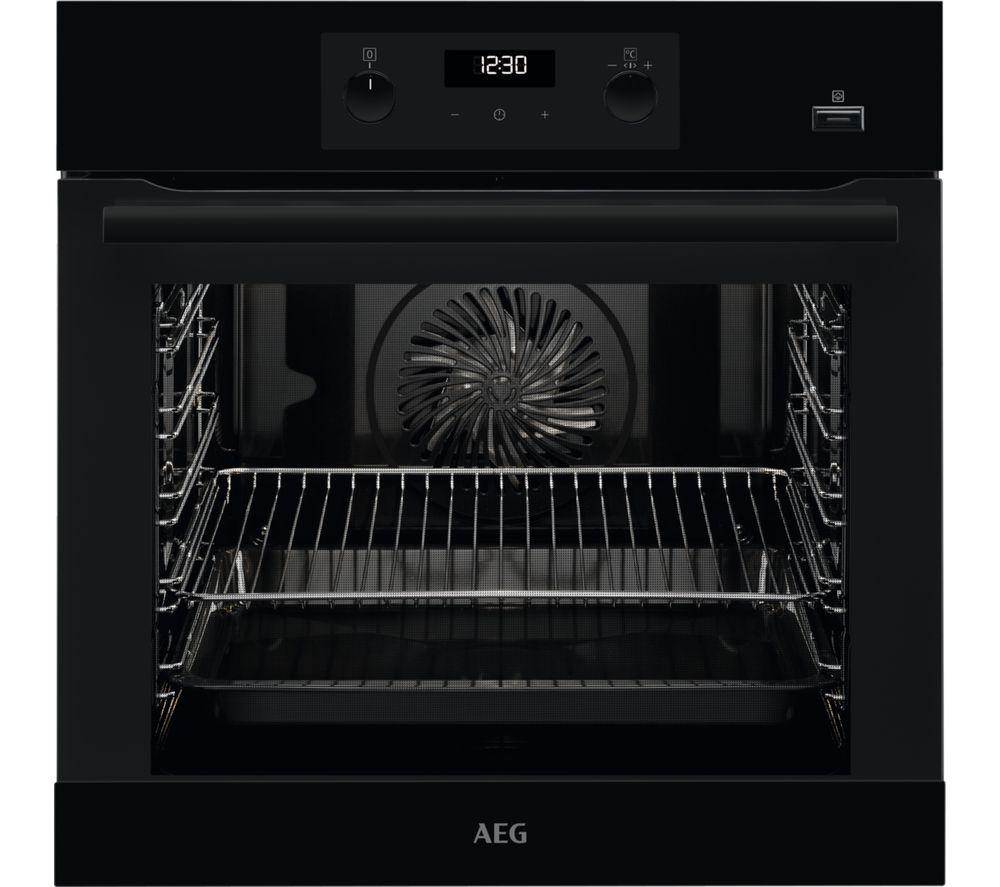 AEG SteamBake BEB355020B Electric Steam Oven - Black