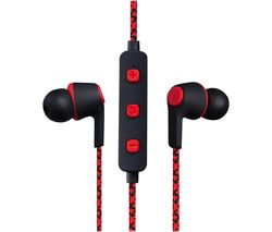 Moda Series VK-1107-RD Wireless Bluetooth Earphones - Red
