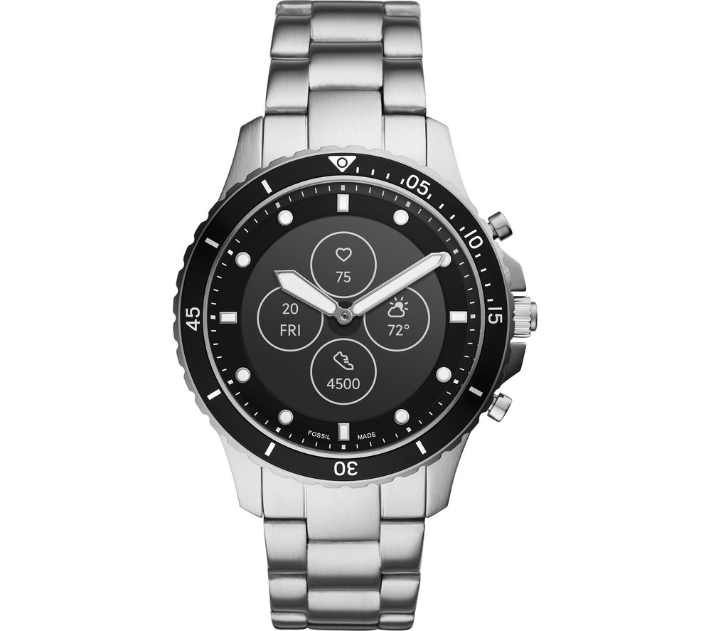 FOSSIL FB-01 Hybrid HR FTW7016 Smartwatch - Silver, Stainless Steel Strap