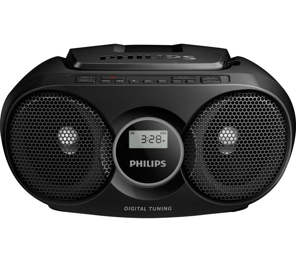 PHILIPS AZ215B/05 FM Boombox - Black