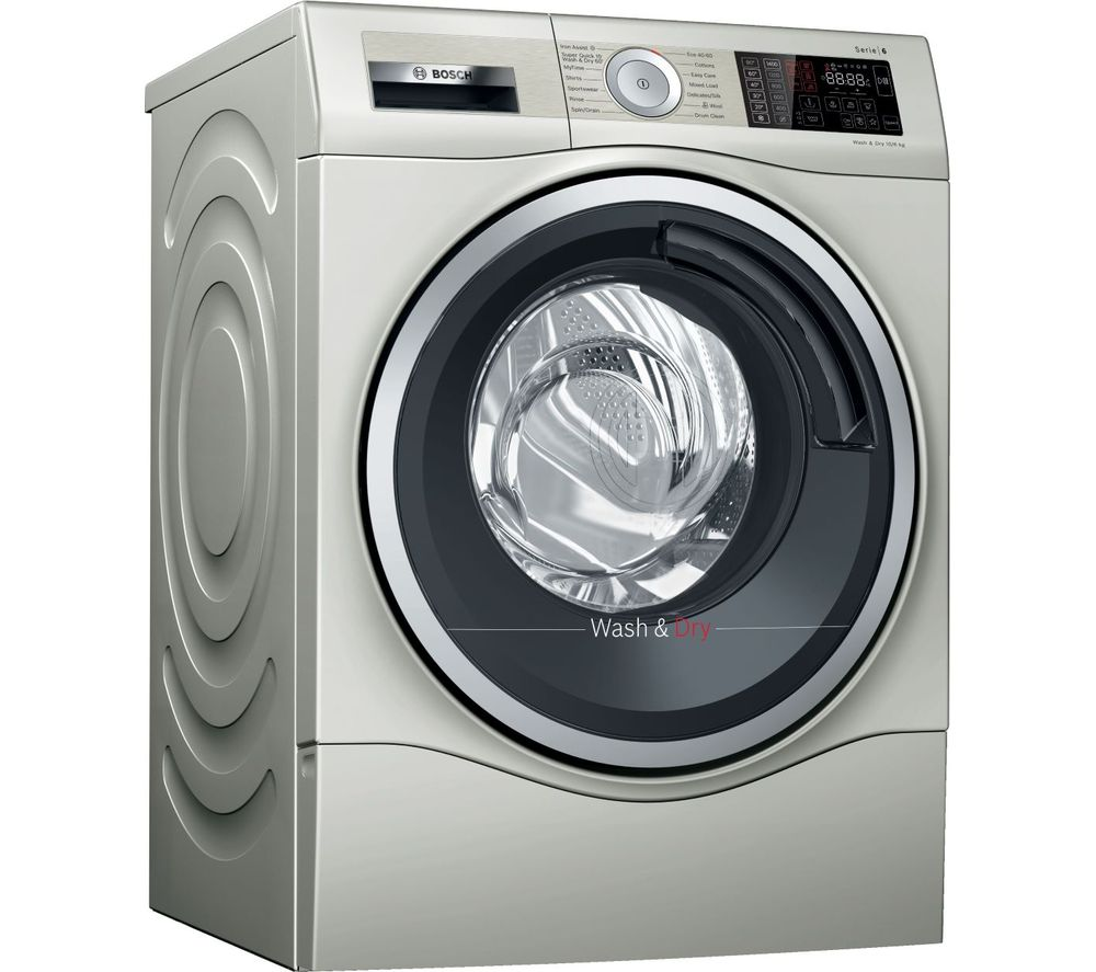 BOSCH Serie 6 WDU28569GB 10 kg Washer Dryer - Silver