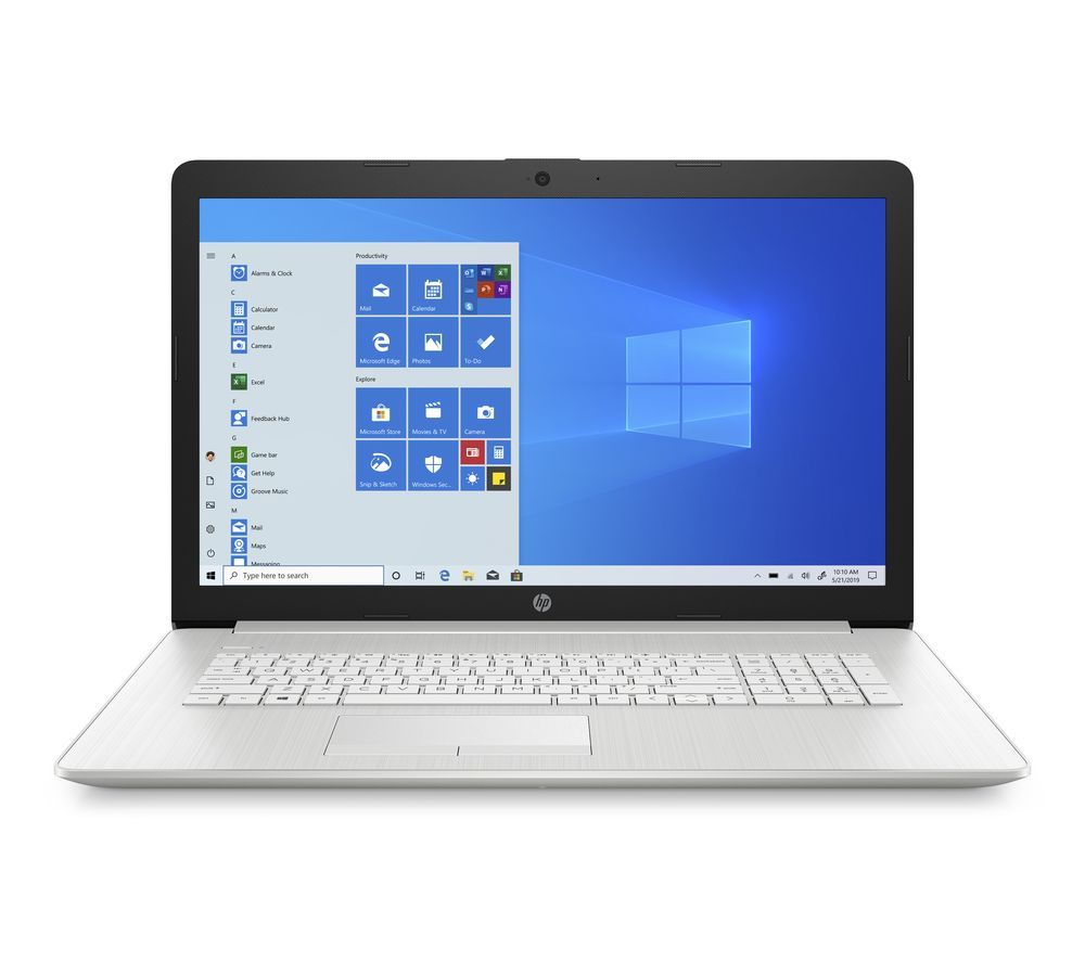"HP 17-by2501na 17.3"" Laptop - Intel® Core™ i3, 1 TB HDD, Silver"