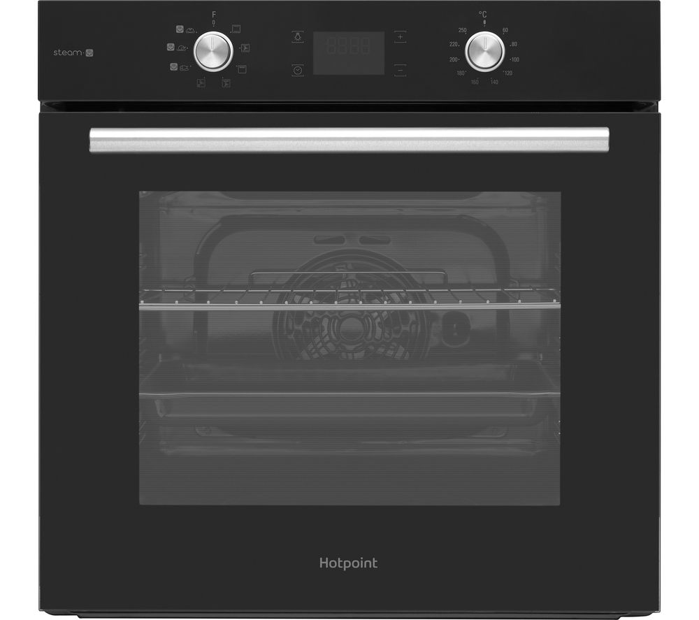 Hotpoint FA4S541JBLGH Built In Electric Single Oven with added Steam Function - Black