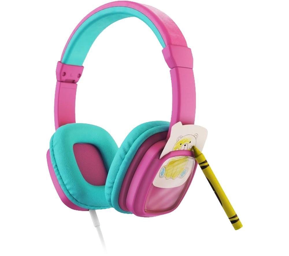 PLANET BUDDIES Colour & Swap Kids Headphones - Pink