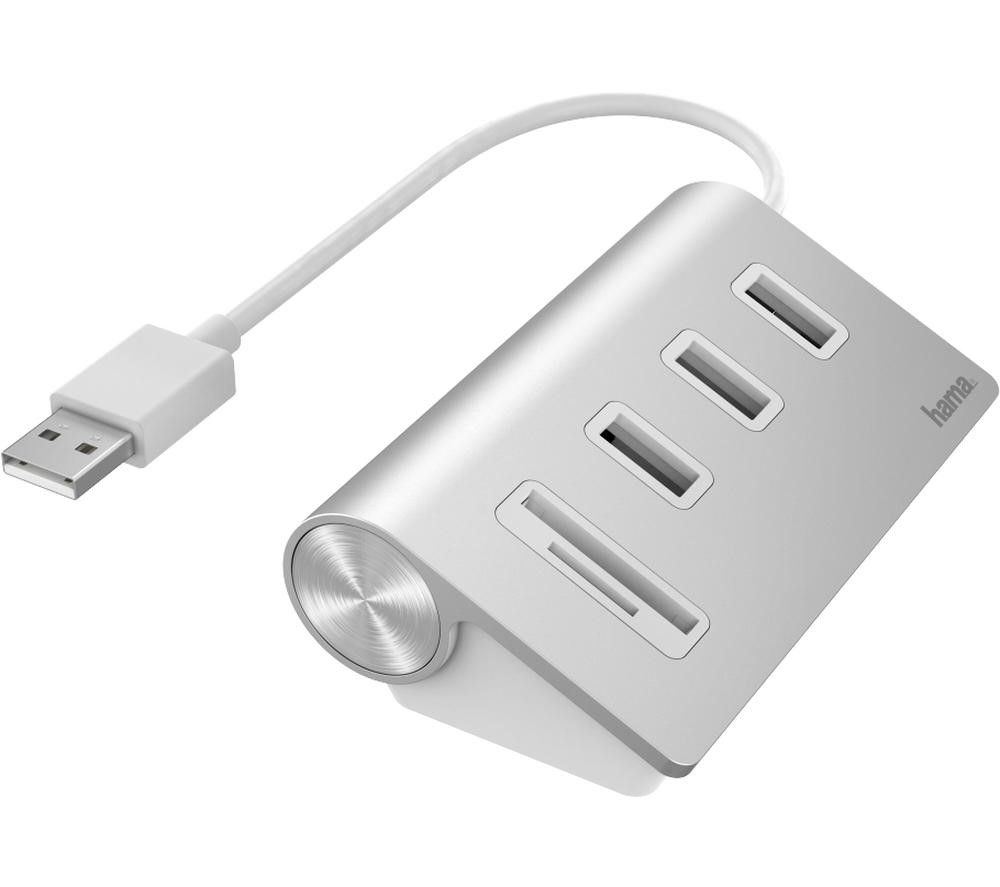 HAMA 5-port USB 2.0 Hub - White