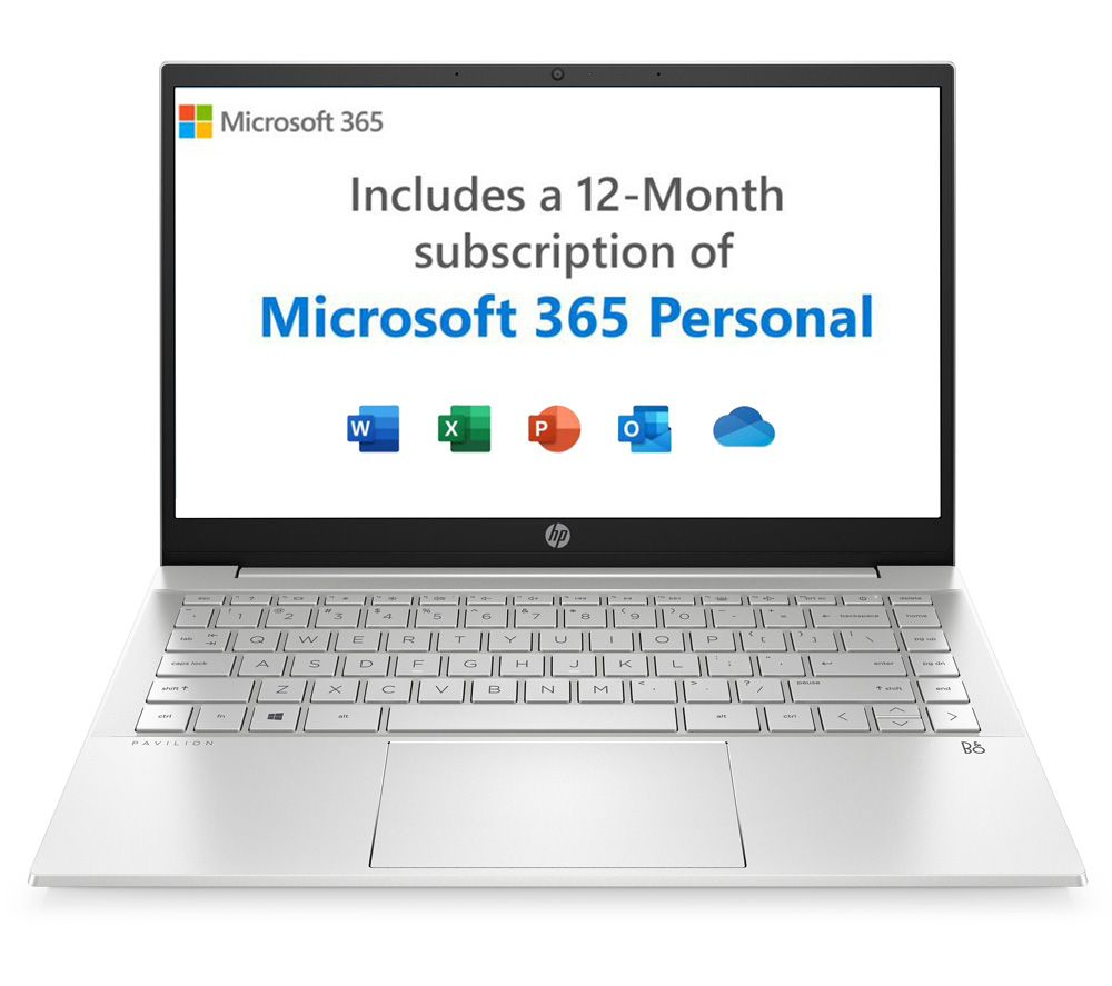 "Image of HP Pavilion 14-dv0603na 14"" Laptop - Intel®Pentium Gold, 128 GB SSD, Silver, Gold"