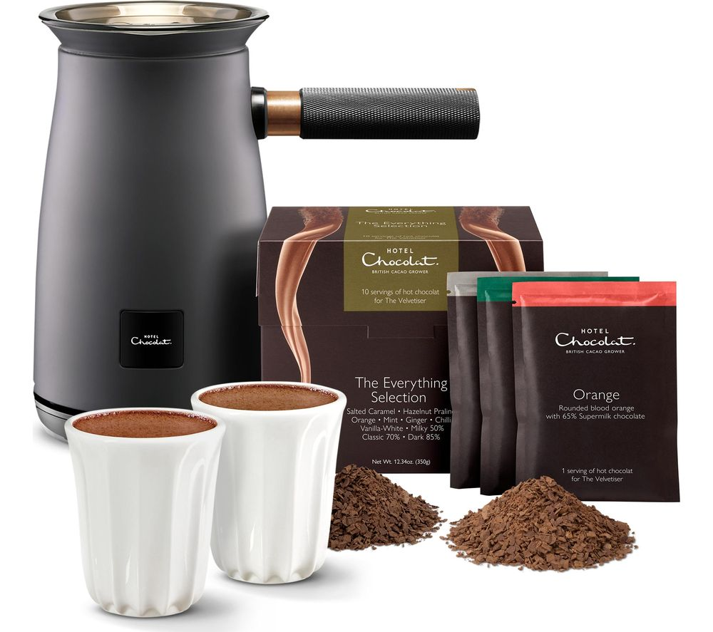 HOTEL CHOCOLAT HC01 Velvetiser Hot Chocolate Machine - Charcoal, Chocolate