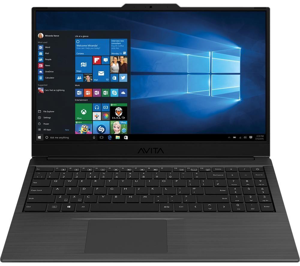 "Image of AVITA Pura 15.6"" Laptop - AMD Ryzen 5, 256 GB SSD, Metallic Black, Black"