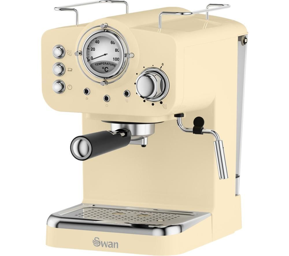 SWAN Retro Pump Espresso SK22110CN Coffee Machine - Cream, Cream